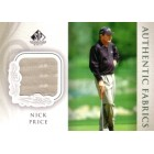 Nick Price 2004 SP Signature golf Authentic Fabrics tournament worn shirt card
