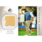 Retief Goosen 2004 SP Signature golf Authentic Fabrics tournament worn shirt card