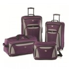 American Tourister Fieldbrook2 Four-Piece Set In Purple/Grey
