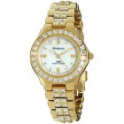 Armitron Ladies Swarovski Crystal Accented Gold-Tone Watch