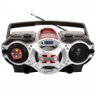 MP3 AM FM Shortwave Boombox Red