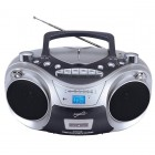 CD MP3 AM FM Boombox Silver