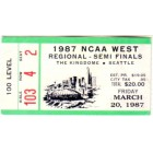 1987 NCAA Tournament West Regional Semifinals ticket stub (UNLV wins)