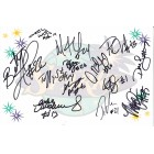 2010 WNBA Los Angeles Sparks team autographed logo card (DeLisha Milton-Jones)