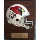 Anquan Boldin autographed Arizona Cardinals mini helmet plaque