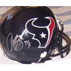 Arian Foster autographed Houston Texans mini helmet