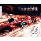 Dario Franchitti autographed 2011 IRL 7x9 photo card