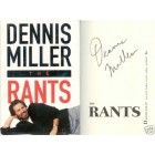 Dennis Miller autographed The Rants hardcover book