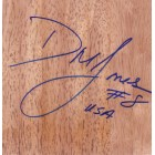 DeLisha Milton-Jones autographed 6x6 basketball hardwood floor