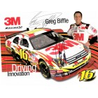 Greg Biffle autographed 3M Racing NASCAR photo card